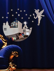 Angel And Palace 3D Mirror Sticker - Zeeshaan