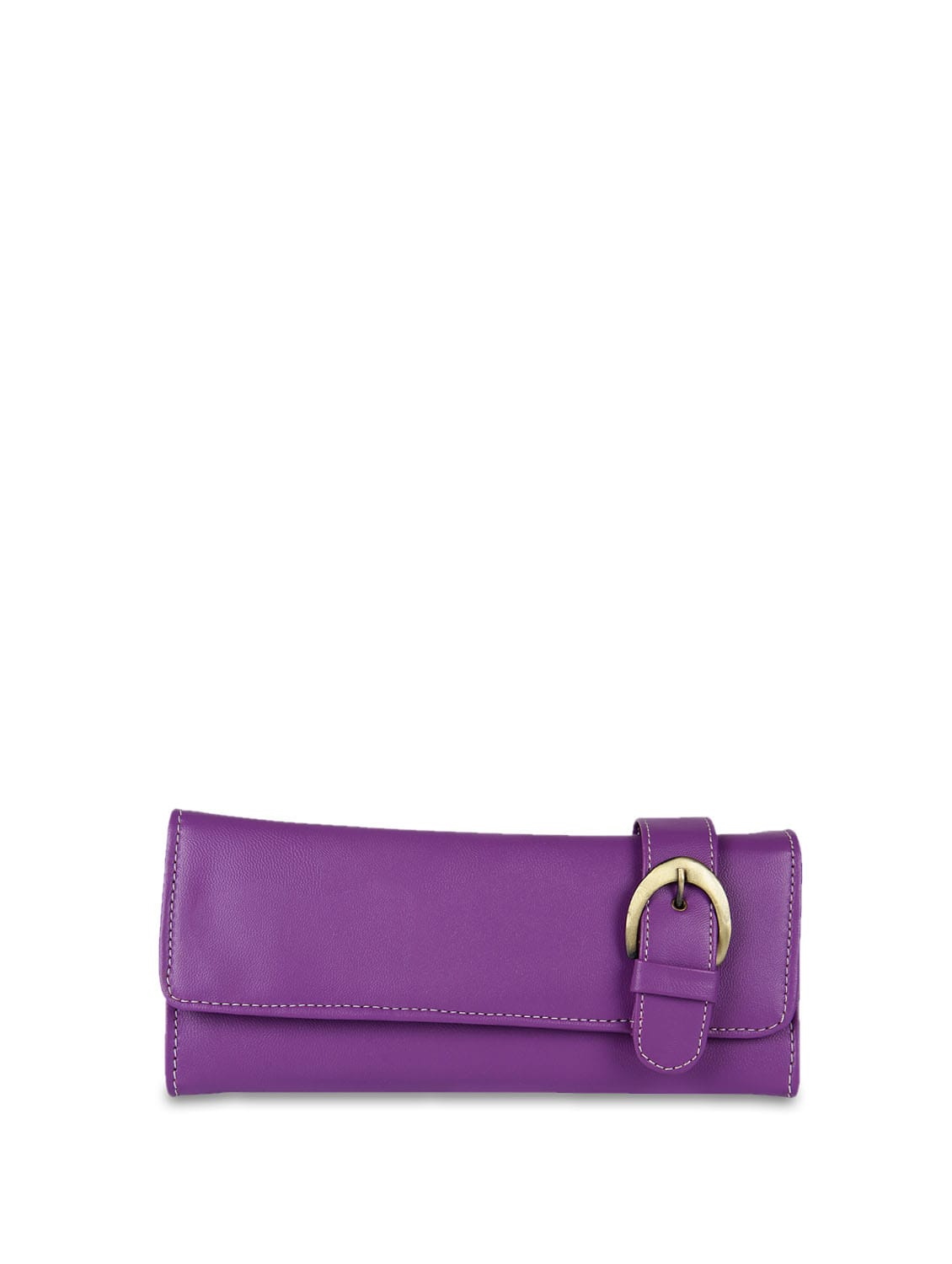 Purple Belted Detail Wallet - ALESSIA