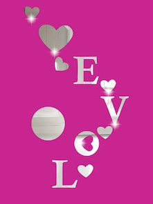 Floating Love 3D Mirror Sticker - Zeeshaan