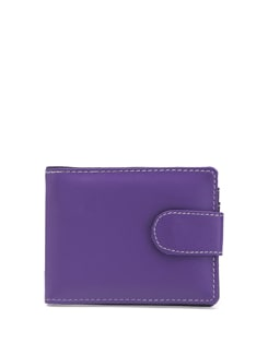 Purple Leatherette Wallet With Mobile Phone Pocket - ALESSIA