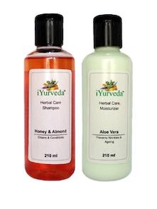 Honey Almond Shampoo & Aloe Vera Moisturiser Pack Of 2 - IYurveda
