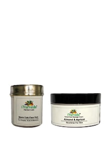 Almond Apricot Cream & Neem Tulsi Face Pack - Set Of 2 - IYurveda