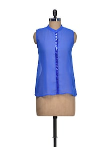Royal Blue Sequined Top - QUEST