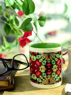 Psychedelic Kids Print Ceramic Mug - Springflies Design