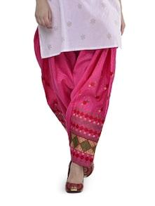 Pretty Pink Phulkari Patiala Salwar - Home Of Impression