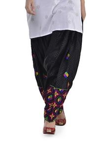 Ethnic Black Phulkari Patiala Salwar - Home Of Impression