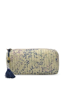 White And Blue Multipurpose Ethnic Bag - ETHNIC