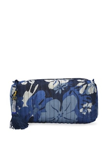 Blue And White Floral Bag - ETHNIC