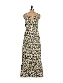 Butterfly Print Maxi Dress - Thegudlook