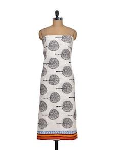 White & Black Tree Print Suit Piece - K22