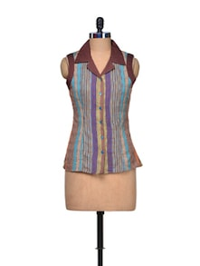 Multicolour Striped Shirt - A Justbe