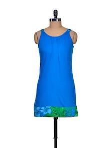 Blue Bliss Cotton Knit Dress - A Justbe