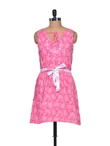 Pink Printed Dress - Mind The Gap