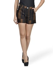 Bombshell Black And Brown Shorts - Mind The Gap