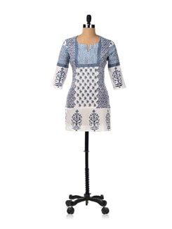 Dreamy Block Print Day Kurta - Cotton Curio