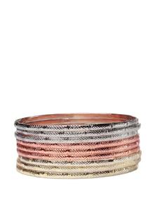 Silver-Gold-Copper Bangle Set - Addons