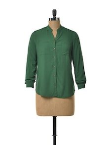 Full Sleeved Emerald Shirt - TREND SHOP