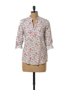 Floral White Shirt - TREND SHOP
