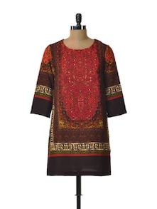 Printed Red Tunic - TREND SHOP