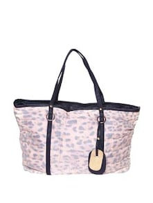 Animal Print Handbag  In Baby Pink - Thegudlook