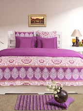 Purple Printed Double Duvet Cover - HOUSE THIS