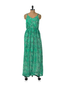 Gorgeous Green Flowy Dress - HERMOSEAR