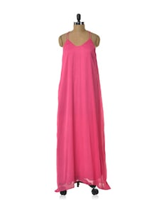 Pretty Pink Chiffon Dress - HERMOSEAR