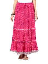 Flirty Fuchsia Long Skirt - Ruhaan's