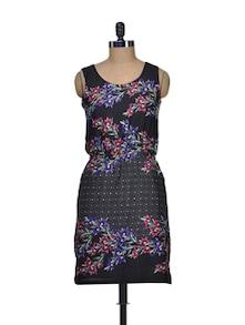Sleeveless Floral Print Dress - Harpa