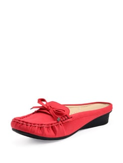 Red Slip On Loafers - Carlton London