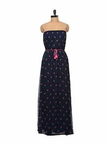 Navy Blue Tube Maxi Dress - STREET 9