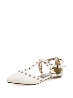 White Studded Sandals - Carlton London