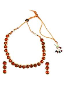 Flaming Orange Necklace Set - SriyasCreation