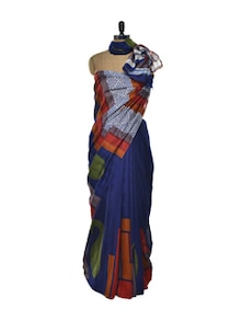 Blue Bhagalpuri Silk Saree - ROOP KASHISH