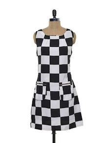 Black And White Check Dress - Purys