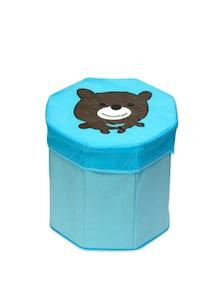 Kids Octagon Shape, Blue Storage Box (Medium) - Uberlyfe