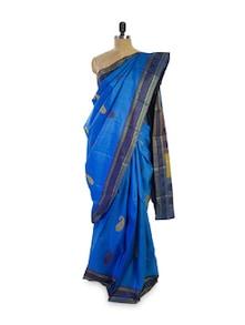 Bewitching Blue Saree - Pratiksha