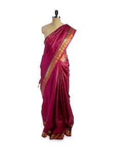 Radiant Red Saree - Pratiksha