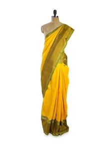 Mustard Silk Saree - Pratiksha