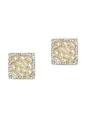 Off-white Pearls Square Stud Earrings - Zara Deals