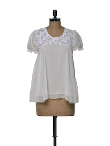 Breezy White Chiffon Top - Tapyti