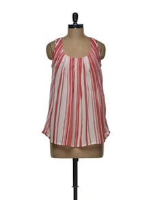 Striped Chiffon Top - Tapyti