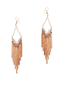 Gold Tassel Earrings - Miss Chase