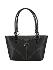 Solid Black Formal Handbag - Bags Craze