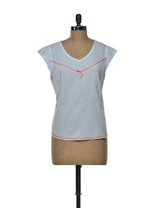 Cap Sleeved Summer Top - House Of Tantrums