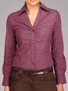Purple Check Formal Shirt - Kaaryah