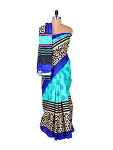Gorgeous Blue Art Silk Saree - Hypno Tex
