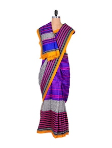 Vibrant Purple Art Silk Saree - Hypno Tex