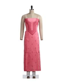 Simplistic Chikankari Pink Suit Piece - Ada