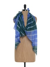 Gorgeous Tie And Dye Scarf - Sage